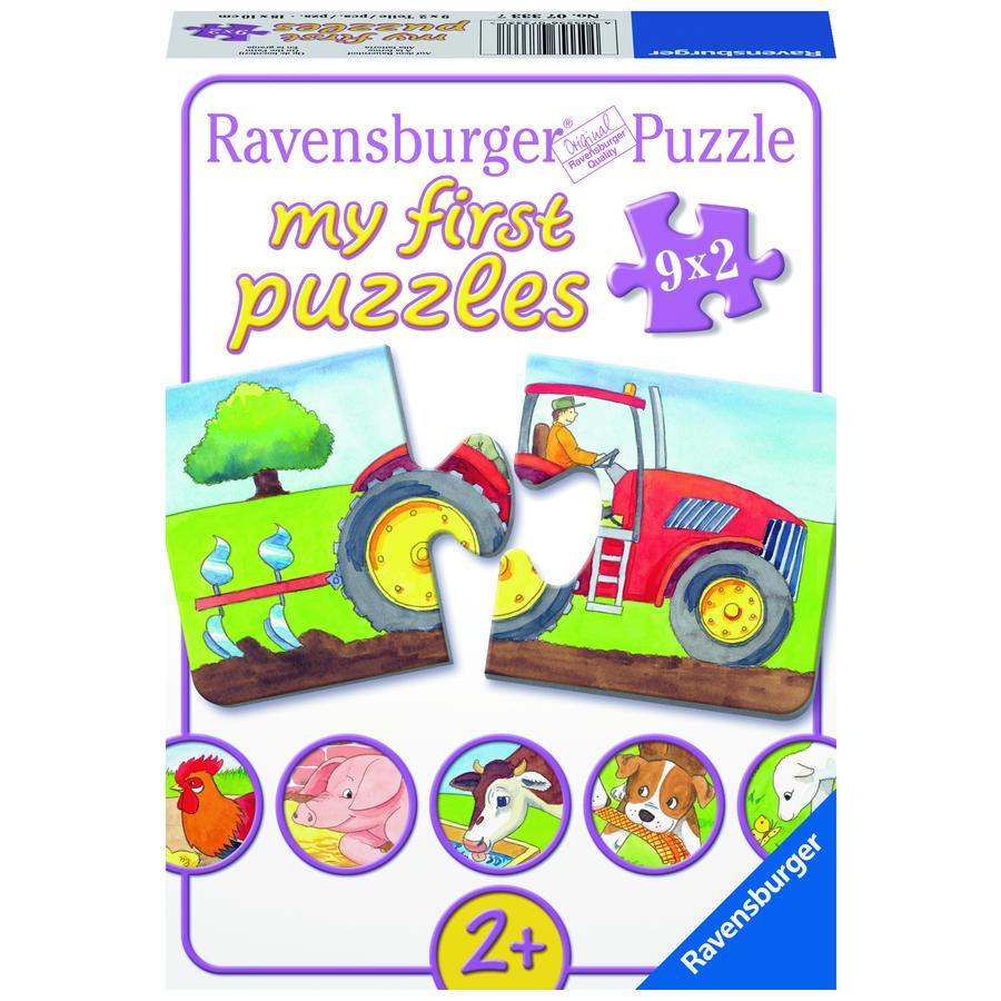 RAVENSBURGER Mitt första pussel  - på bondgården 2 delar 07333