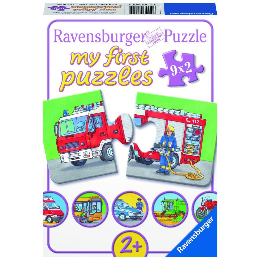 RAVENSBURGER My first Puzzle Einsatzfahrzeuge 9x2 Teile 07332