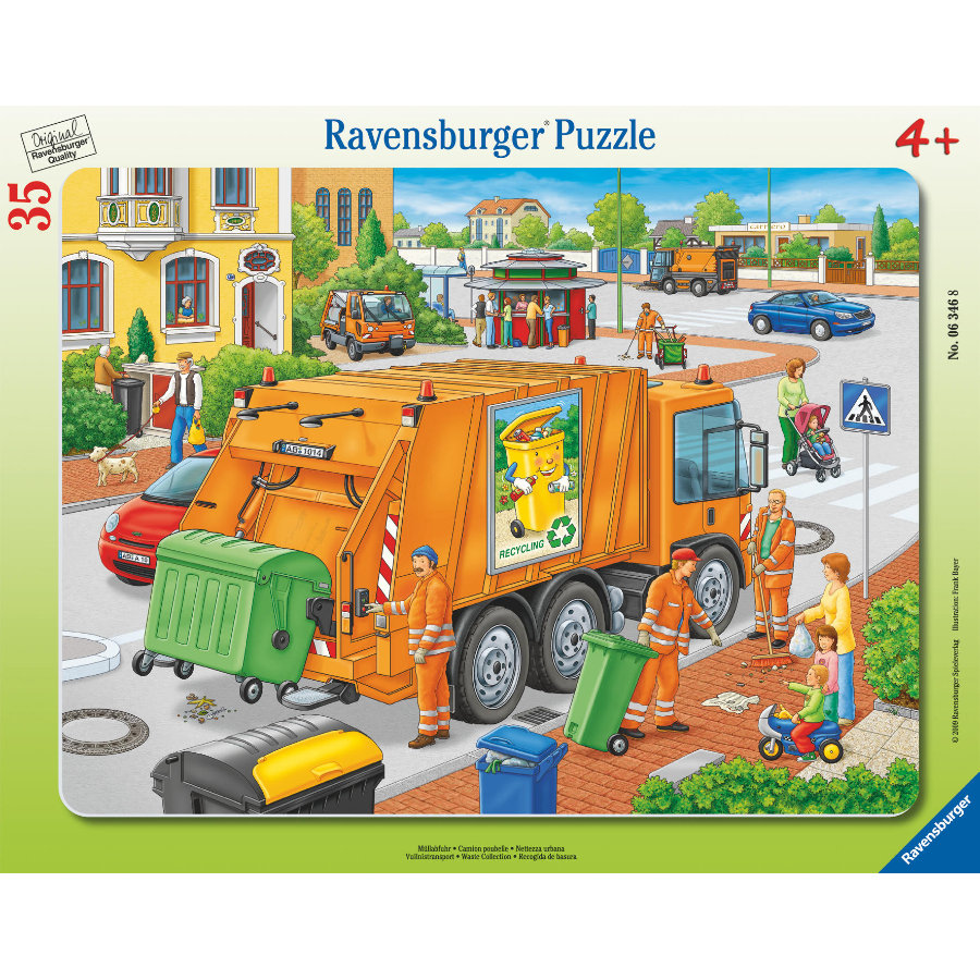 RAVENSBURGER Puzzel - Vuilnisdienst, 35 stukjes