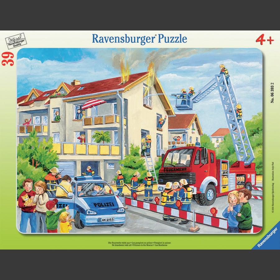 RAVENSBURGER Rahmenpuzzle - Die Feuerwehr rückt aus, 39 Teile