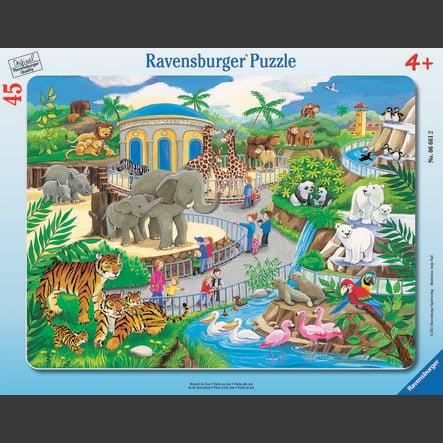 Ravensburger Frame -pelissä - Käy eläintarhassa, 45 kappaletta