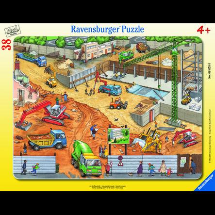 Ravensburger Rahmenpuzzle - An der Baustelle, 38 Teile