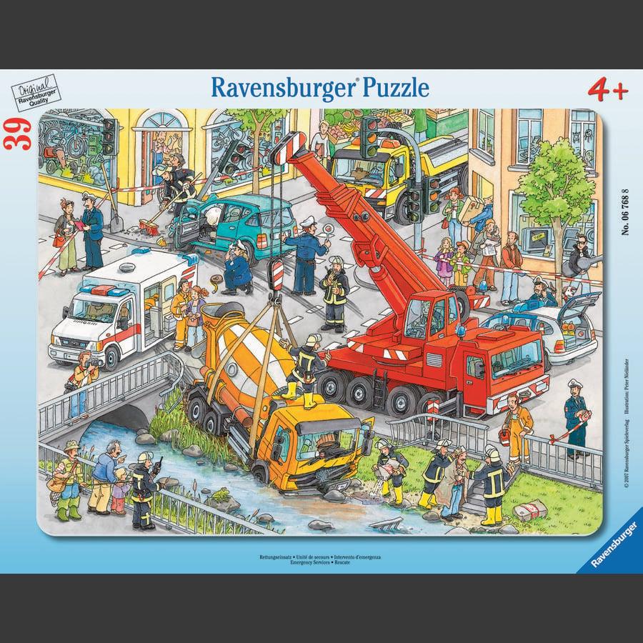 Ravensburger ramme puzzle - redningsoppdrag, 39 stykker