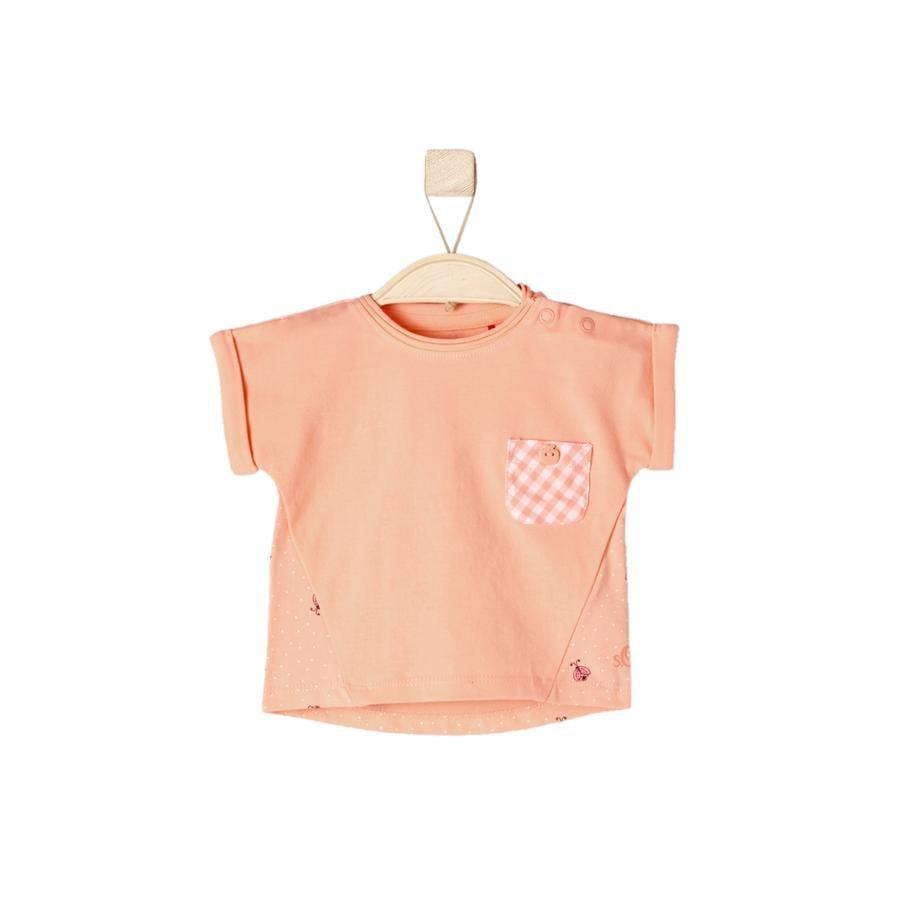 s.OLIVER Girl s T-Shirt licht oranje