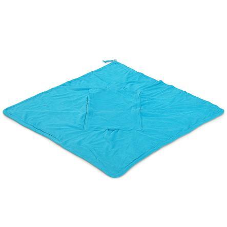 Hoppediz Couverture enveloppante éponge, turquoise