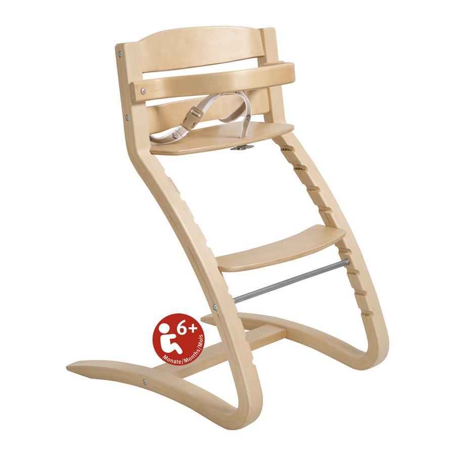 ROBA Jídelní židlička Grow Up, přírodní