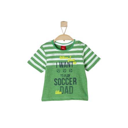 s.OLIVER Boys T-Shirt groene melange