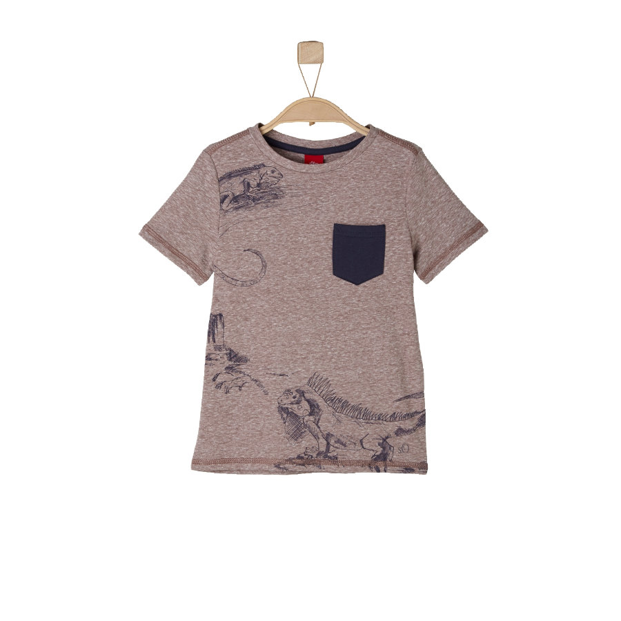 s.OLIVER Boys T-Shirt brown melange