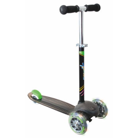 AUTHENTIC SPORTS Kidsscooter UP Muuwmi, schwarz Leuchtrolle