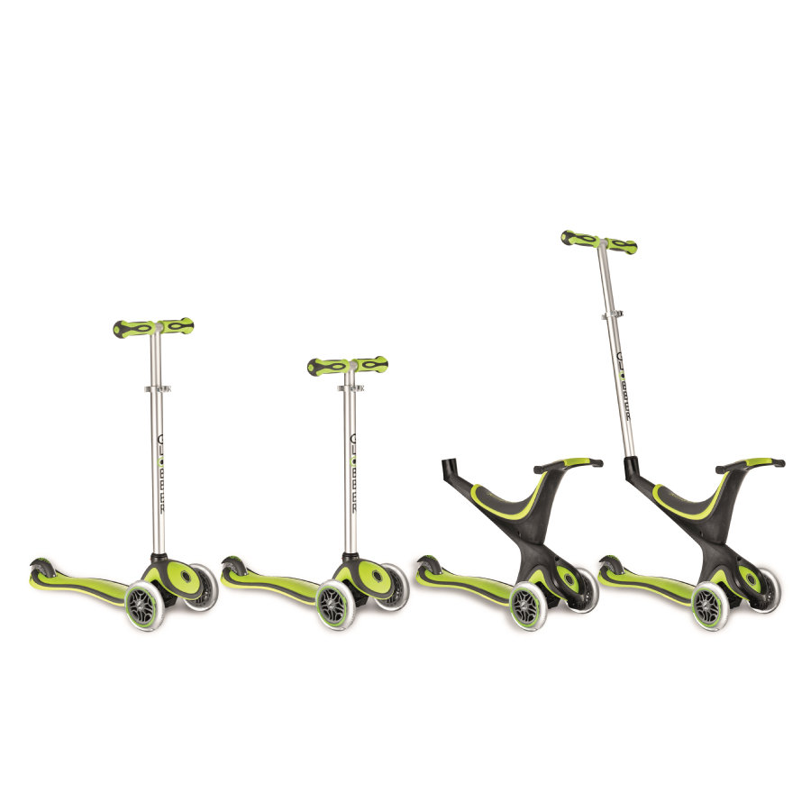 AUTHENTIC SPORTS Trottinette GLOBBER MY FREE KIDS 5 en 1, 3 roues, bi-injection, vert/noir