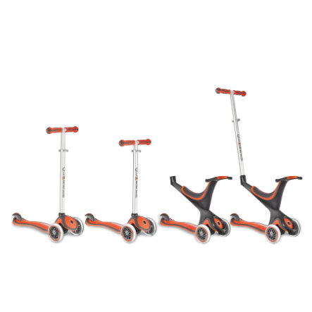 AUTHENTIC SPORTS Scooter Globber my free kids 5 in 1, 3-Wheels, bi-inject - rot-schwarz