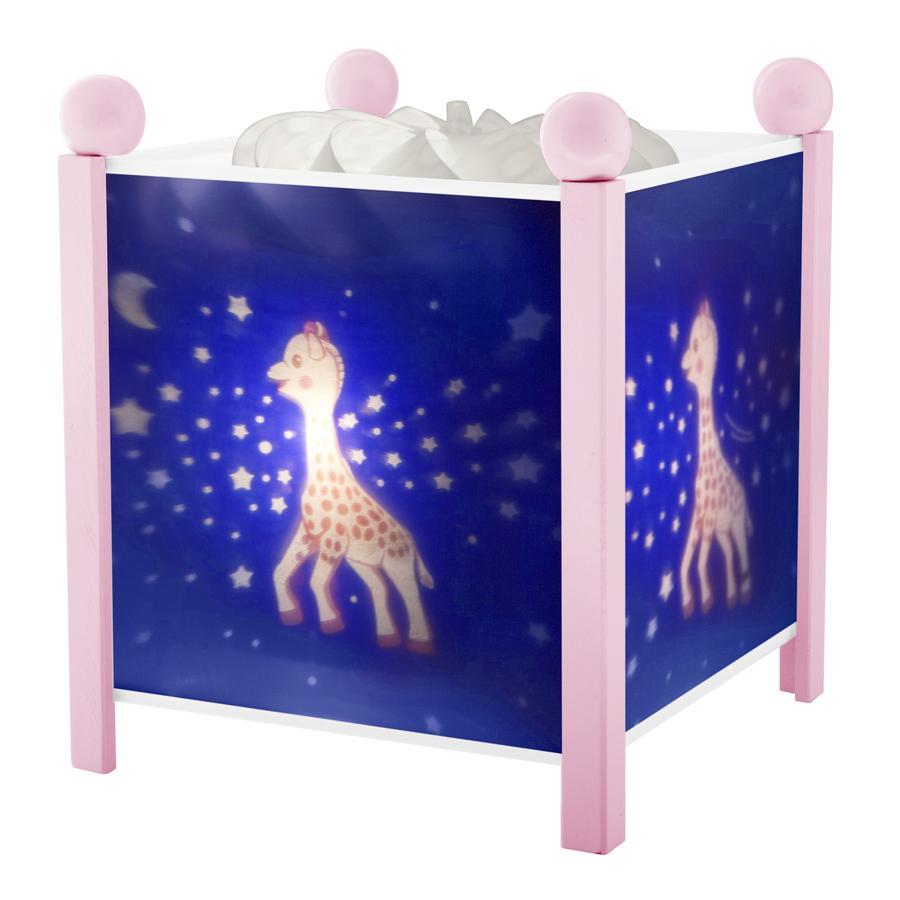 TROUSSELIER Magická svítilna Sophie the Giraffe©, mléčná duha růžová