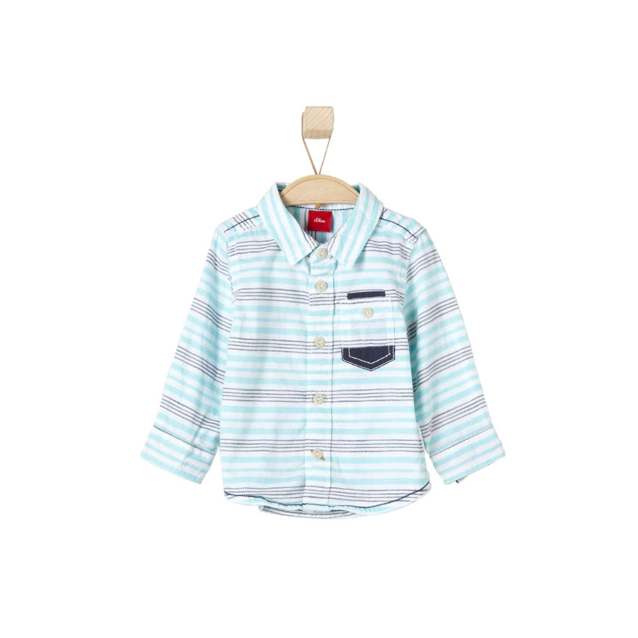 s.OLIVER Boys Hemd light blue stripes