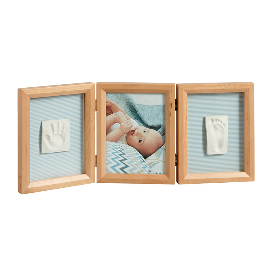 BABY ART Cadre d'images avec empreinte My Baby Touch, 3 volets, miel