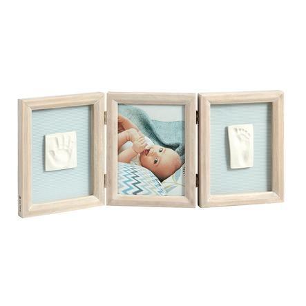 Baby Art Bilderrahmen mit 2 Abdrücken für Händchen und Füßchen