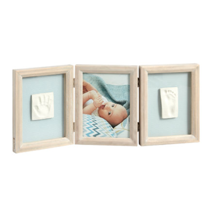 Baby Art Cadre d'images à empreinte My Baby Touch, 3 volets, bois cérusé