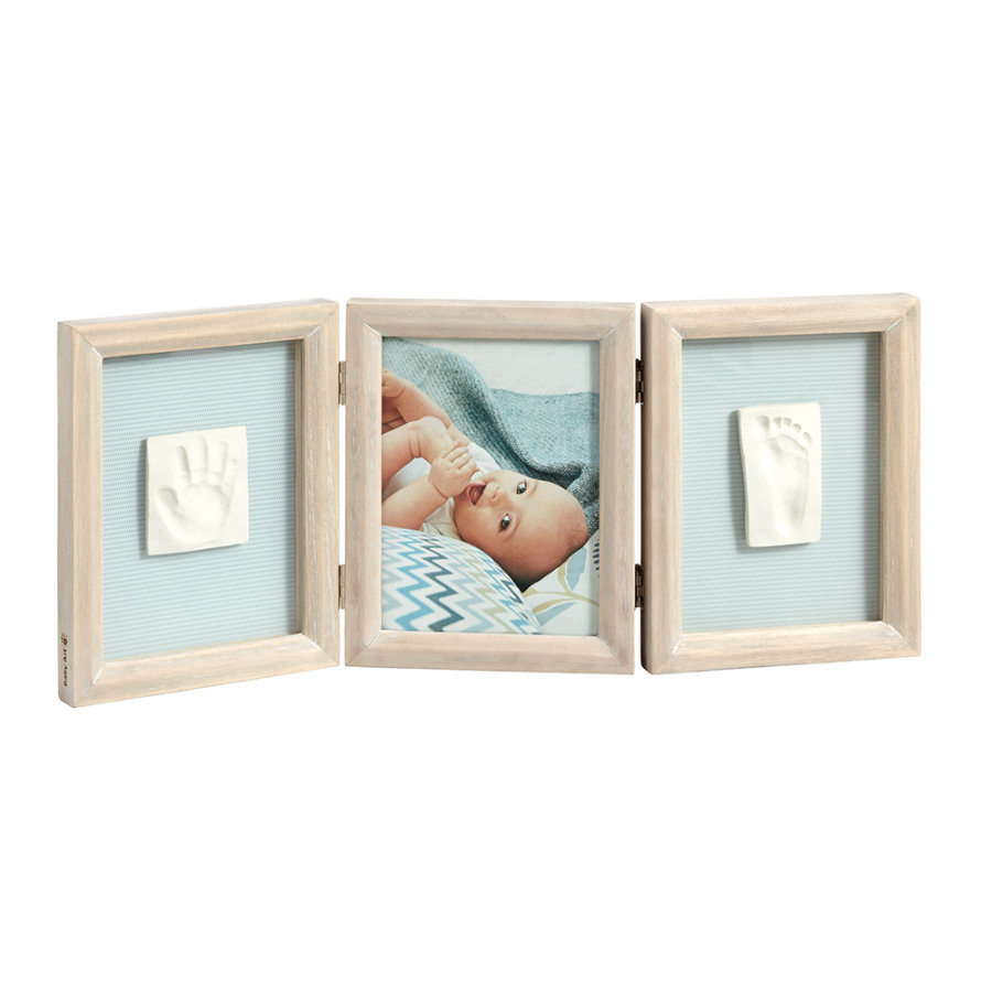 BABY ART Billedramme med aftryk - Double Print Frame Stormy