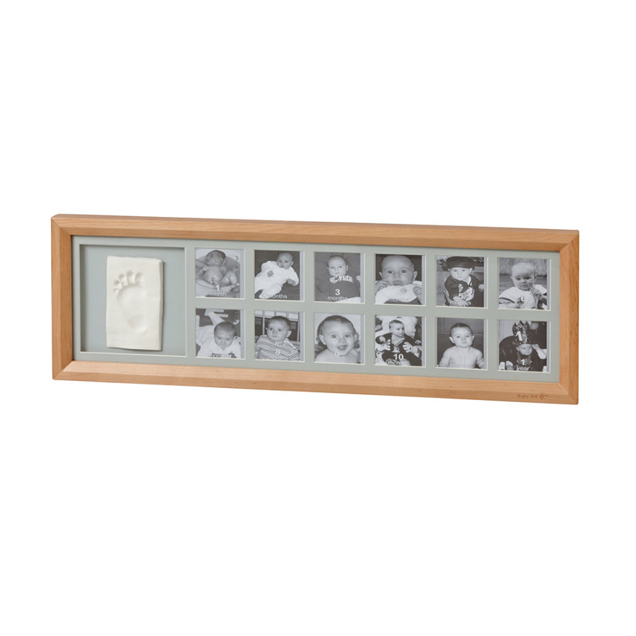 Baby Art Cornice foto - 1st Year Print Frame Honey
