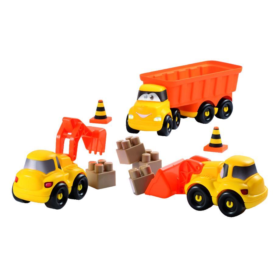 ECOIFFIER Abrick-Set Baustellen-Fahrzeuge