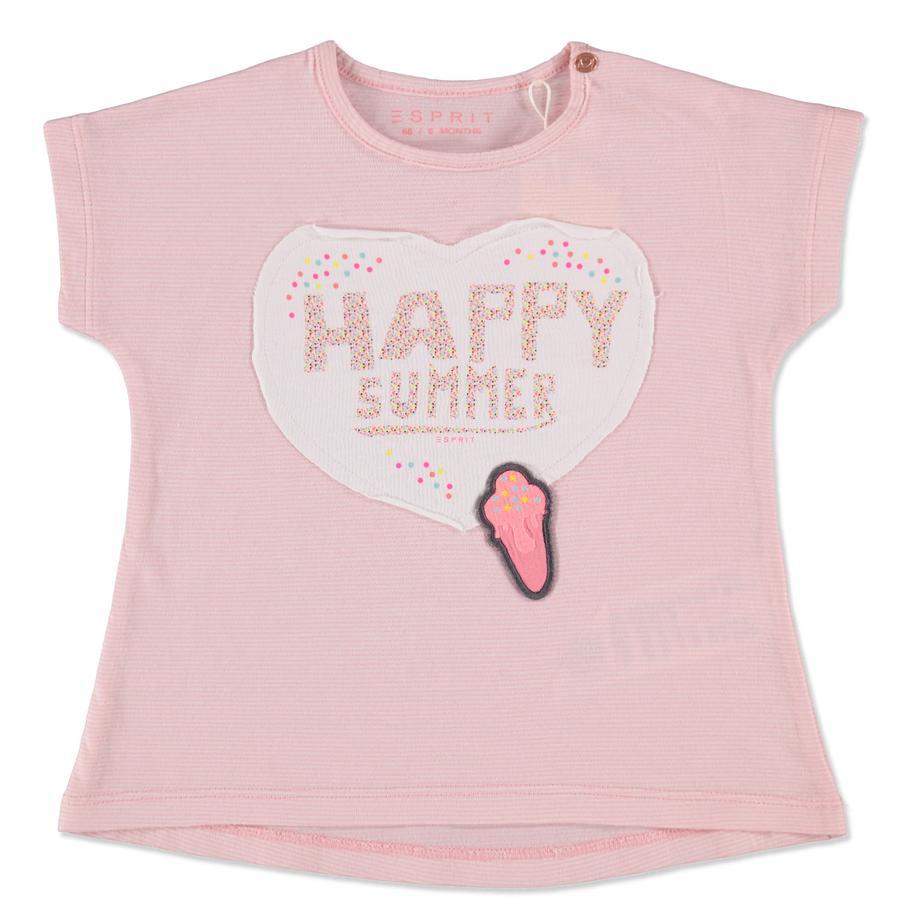 ESPRIT T-paita vaaleanpunainen