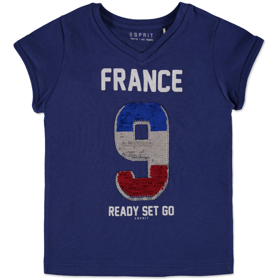 ESPRIT Girls Soccer T-Shirt Frankreich navy