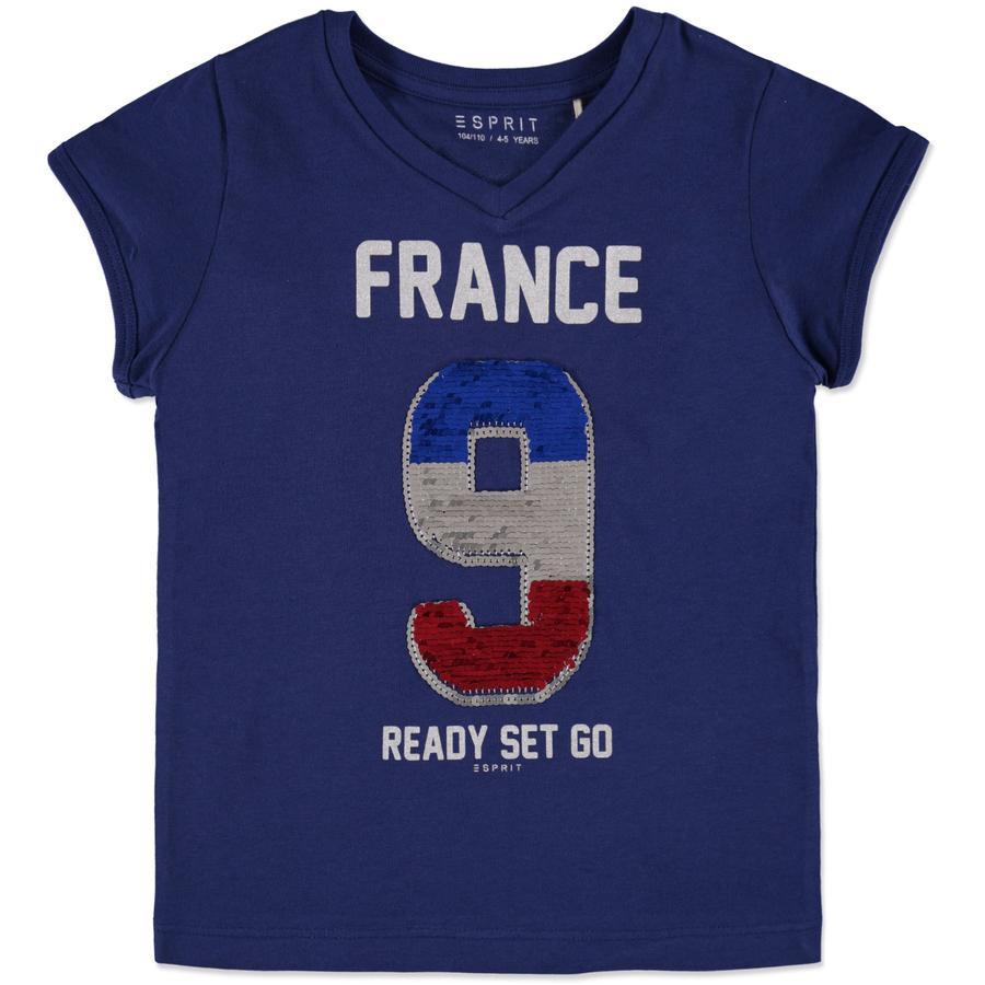 ESPRIT Girls Soccer T-Shirt Frankreich navy