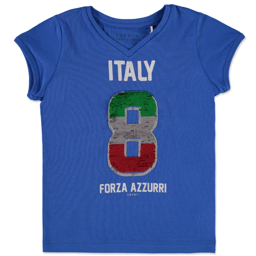 ESPRIT Girls Soccer T-Shirt Italien blue