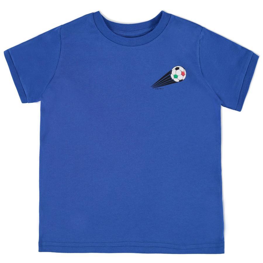 ESPRIT Boys Calcio T-Shirt Italia blu