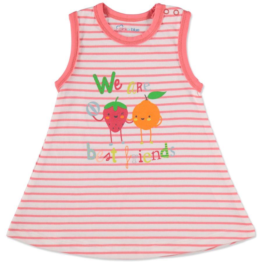 PINK TAI SININEN tyttöjen mekko oranssi raidallinen