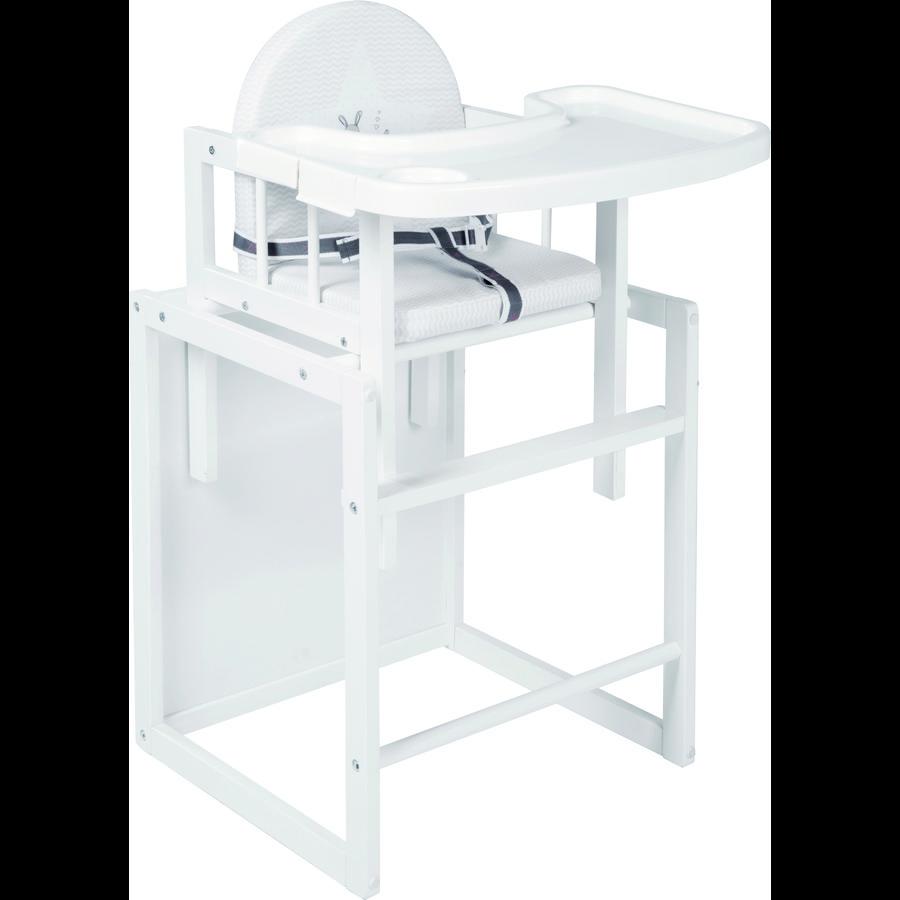 ROBA Kombinovaná jídelní židlička Fox & Bunny, bílá