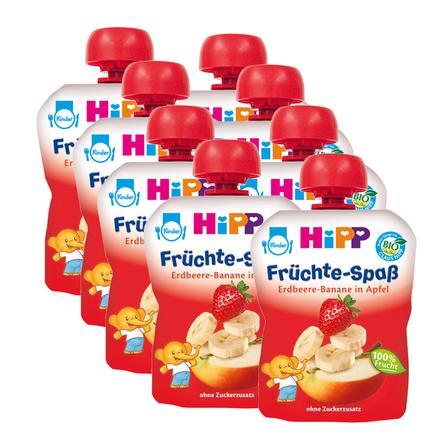 HIPP Fruity Friends Straweberry-Banana and Apple 8x90g