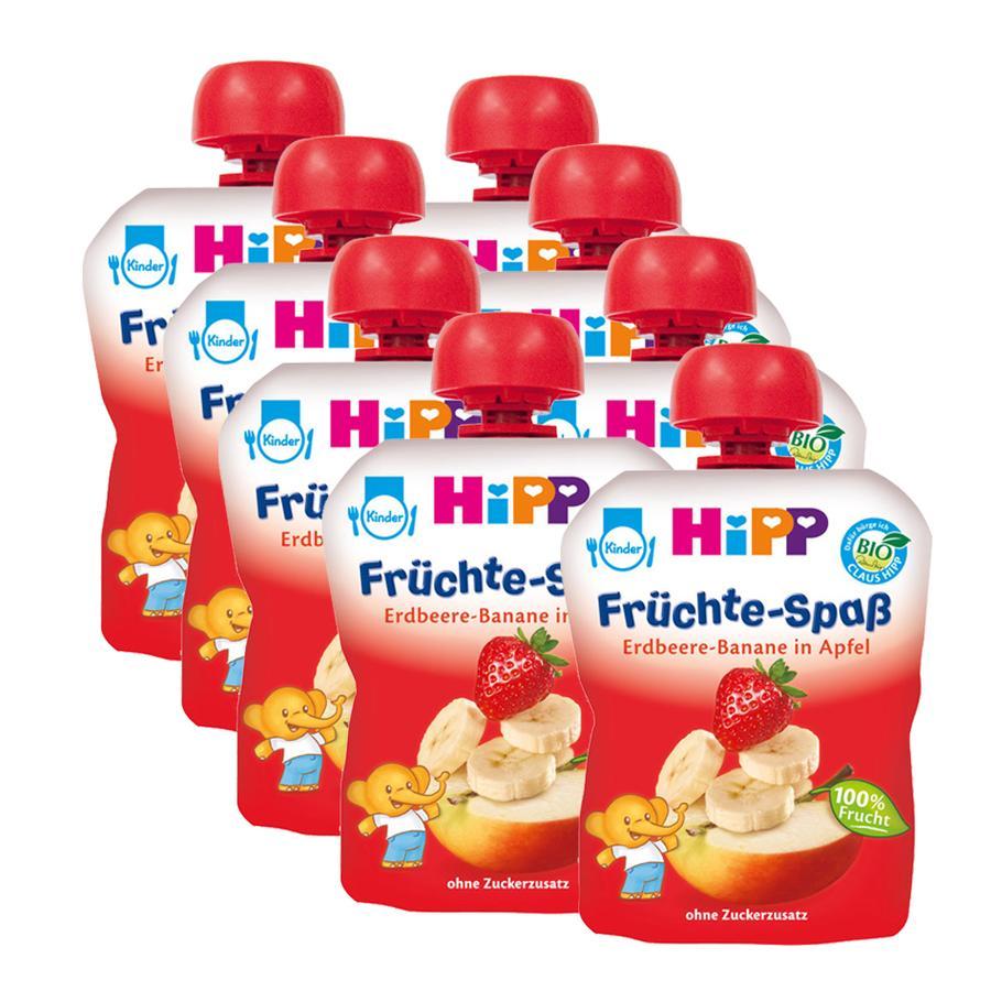 HiPP Früchte-Spaß Erdbeer-Banane in Apfel 8 x 90 g