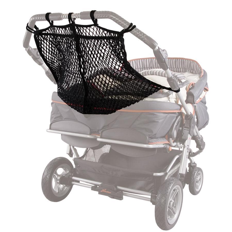 SUNNYBABY Kinderwagennet voor tweeling/duowagen zwart
