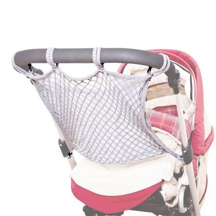 SUNNYBABY universales Kinderwagennetz mit Anker und Sichtschutz Grau