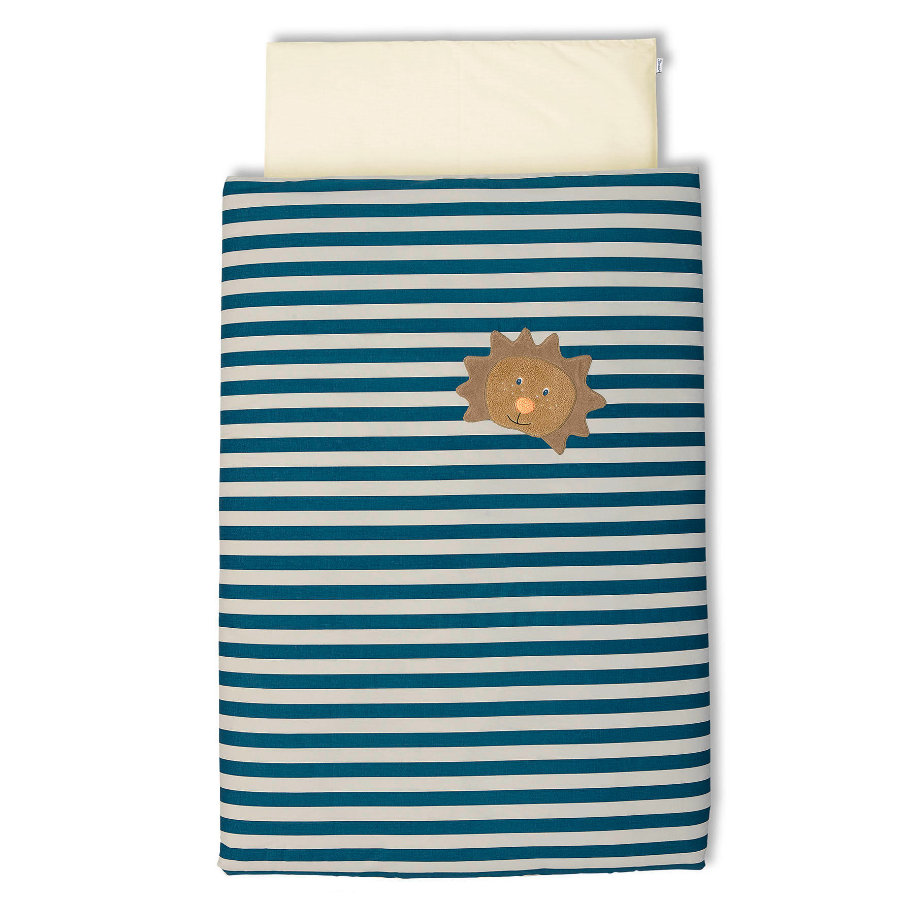 Sterntaler Bettwäsche Leo Streifen blau 100x135 cm