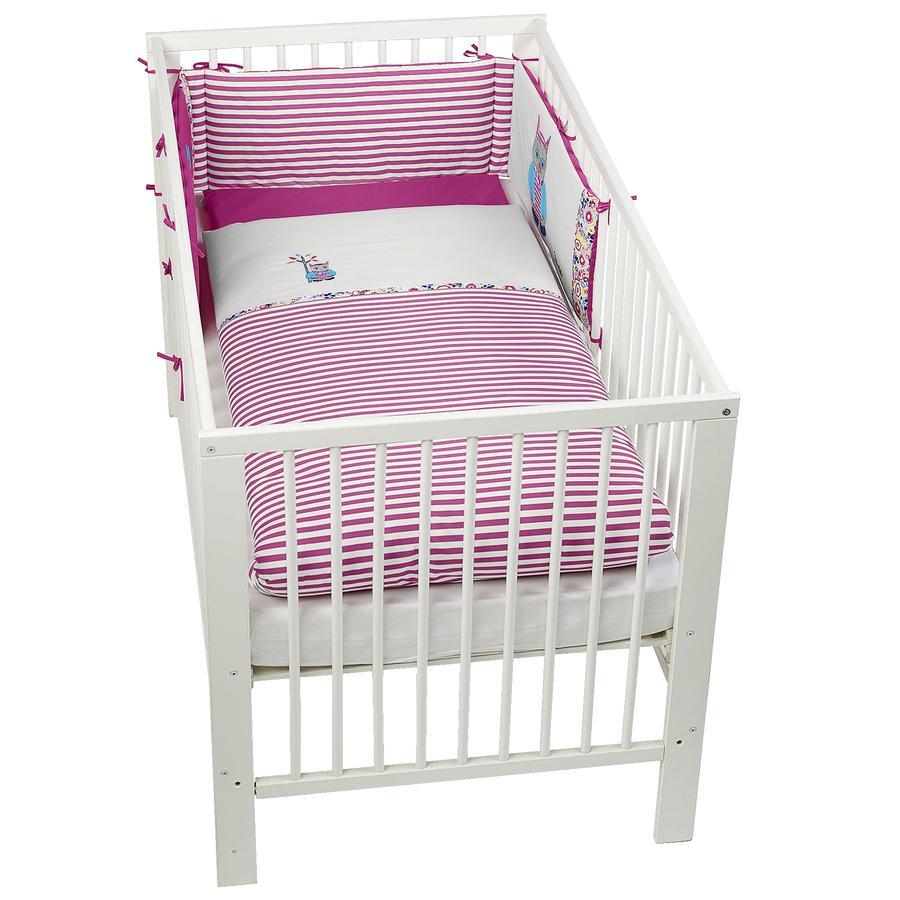 Sterntaler Parure de lit enfant à barreaux Emilie hibou violet/gris