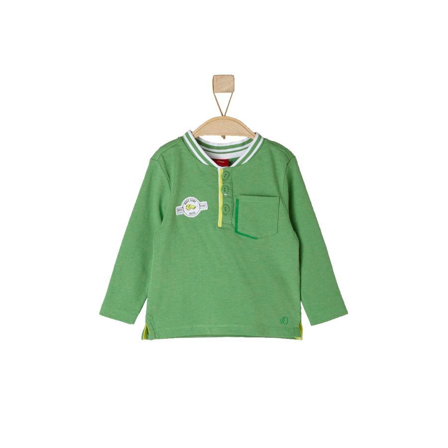 s.OLIVER Boys Longsleeve groen melange