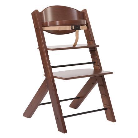 Treppy® Chaise haute bébé, noyer