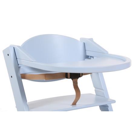 Treppy® Tablette pour chaise haute bébé, bleu nacré