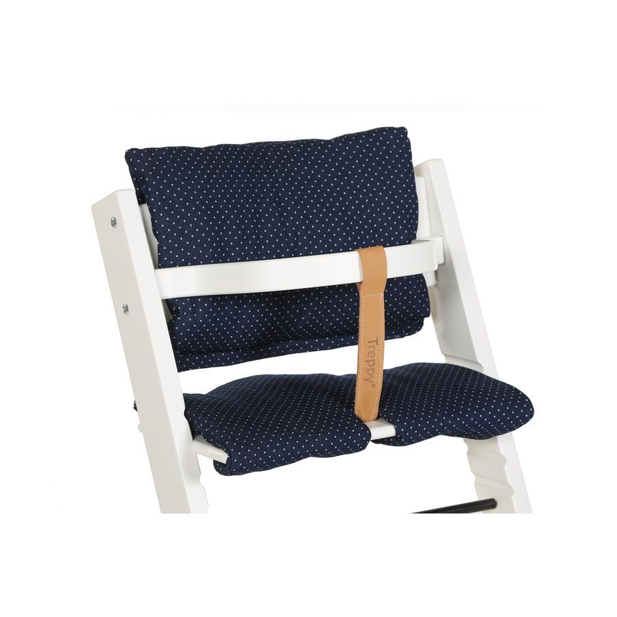 TREPPY Polstrování do jídelní židličky Dots Denim