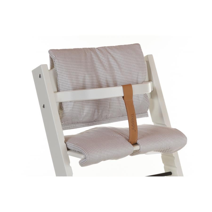 Treppy® Sitzkissen Pepita Grau