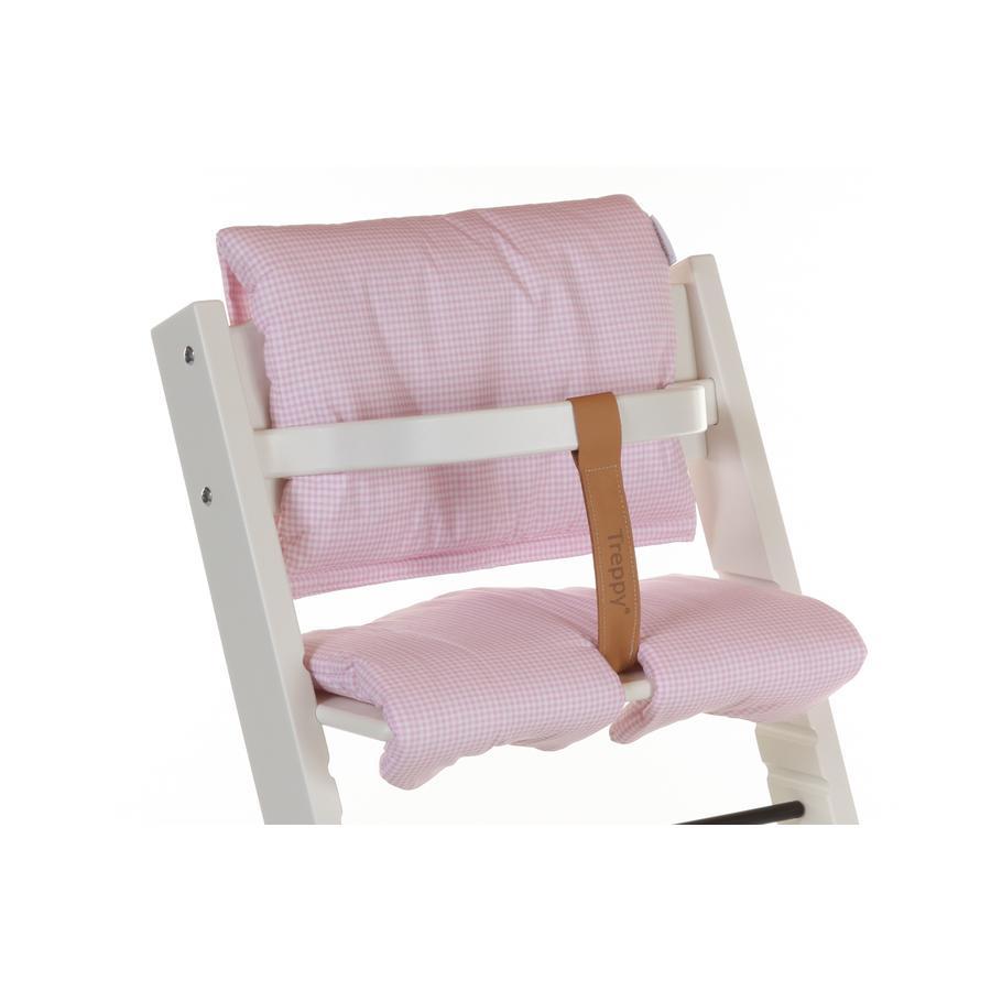 TREPPY Polstrování do jídelní židličky Pepita růžové