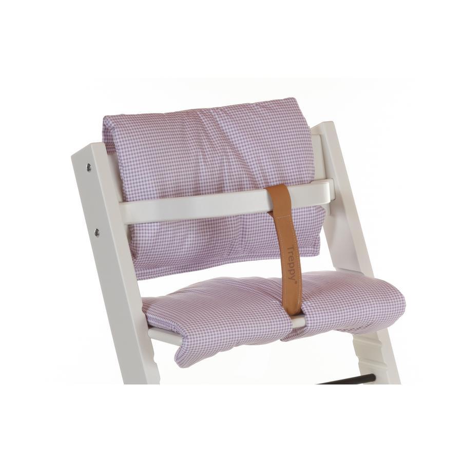 Treppy® Sitzkissen Pepita Lila