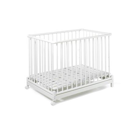 Geuther Box per bambini Euro-Parc, bianco con stelle - 73 x 102cm