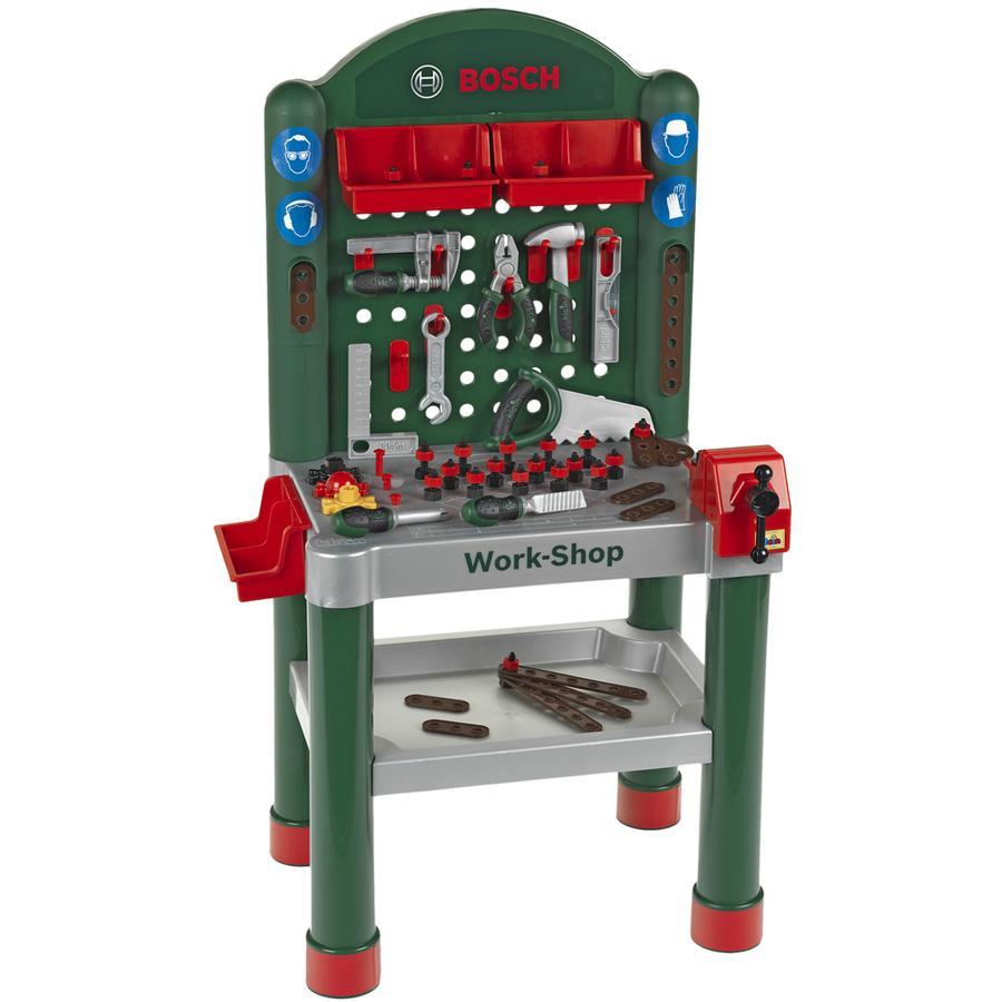 KLEIN BOSCH mini Work Shop med 75 tilbehørsdele (legetøj)