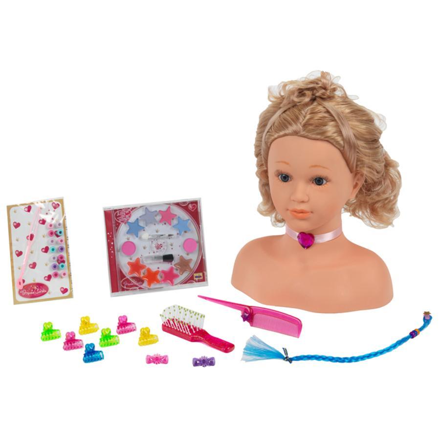 KLEIN Princess Coralie Maniquí para peinar y maquillar, grande