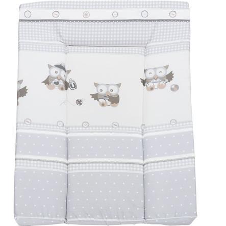 Roba Materassino fasciatoio, Baby gufetti, grigio talpa 73x52 cm in foglio di alluminio