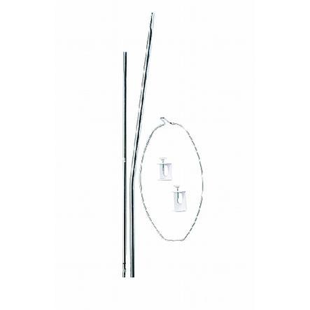 BA himmelstol 150 cm høj stålprofil med plastik