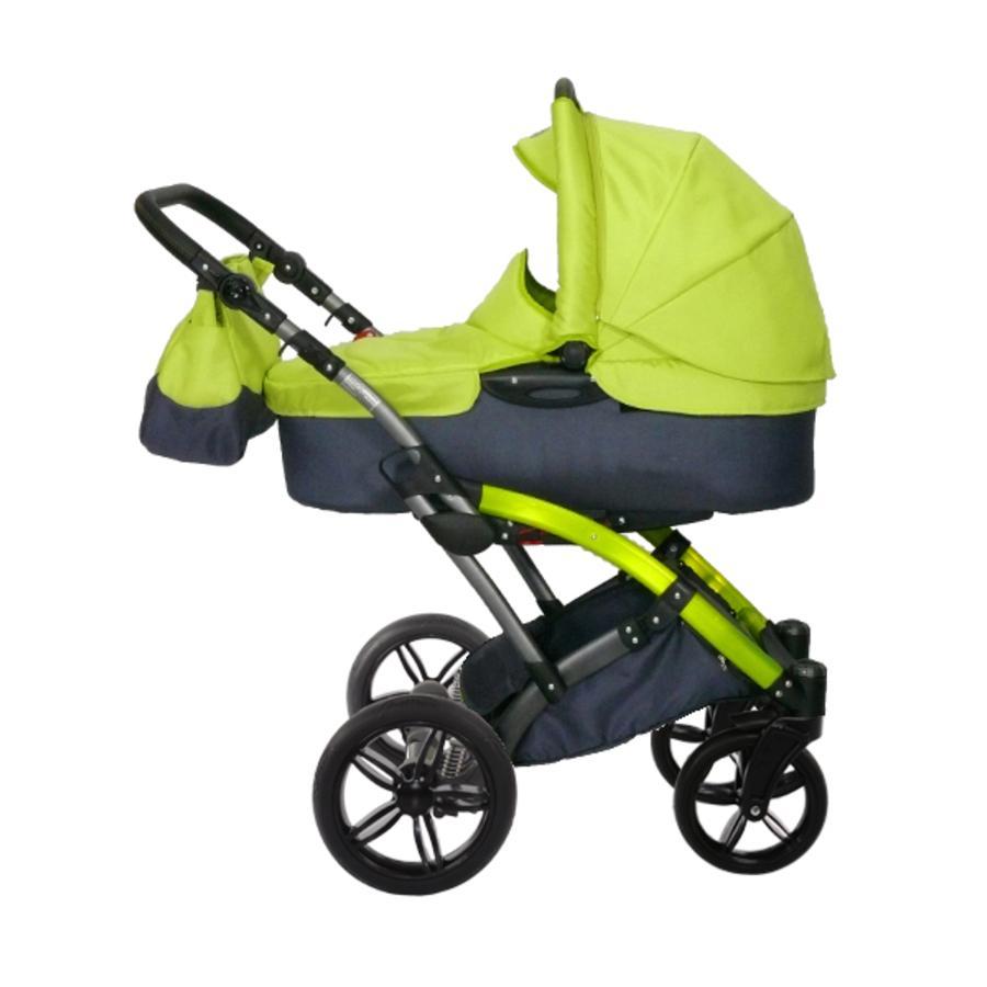 knorr-baby Kombikinderwagen Voletto Sport schwarz-lemon