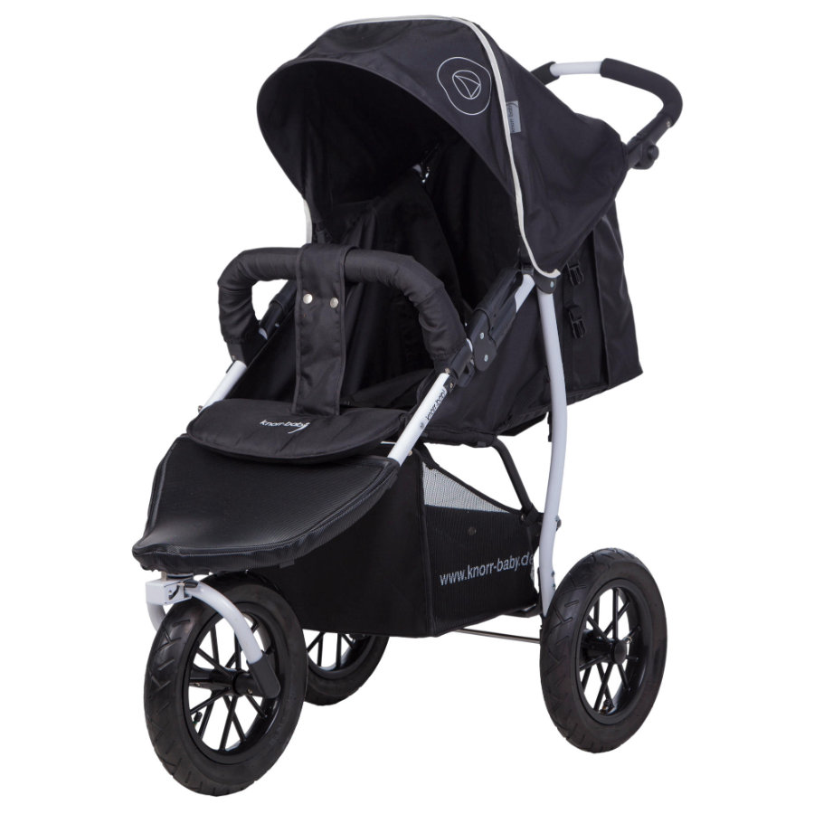 Knorr-Baby Sittvagn Joggy S Happy Colour svart